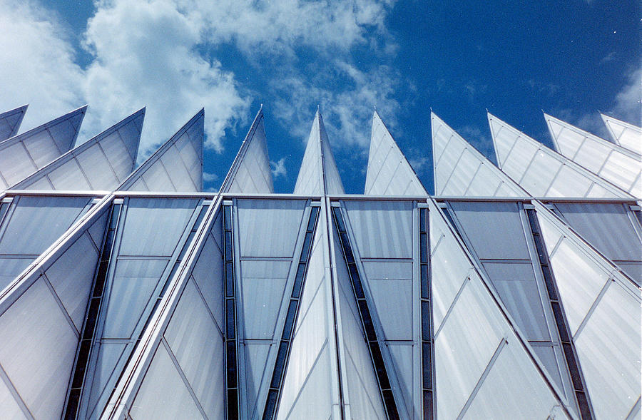 Force Photograph - Us Air Force Academy Chapel by Michael Merry