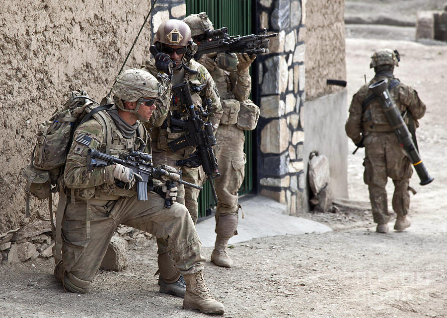 Afghanistan Photograph - U.s. Army Battalion Pulls Security by Stocktrek Images