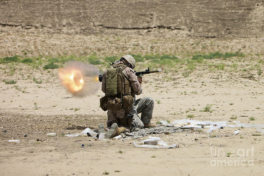 Afghanistan Photograph - U.s. Army Soldier Fires by Terry Moore