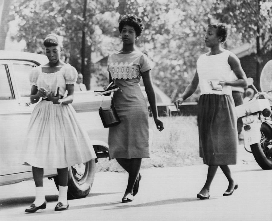 1950s Photograph - Us Civil Rights. From Left Integrated by Everett