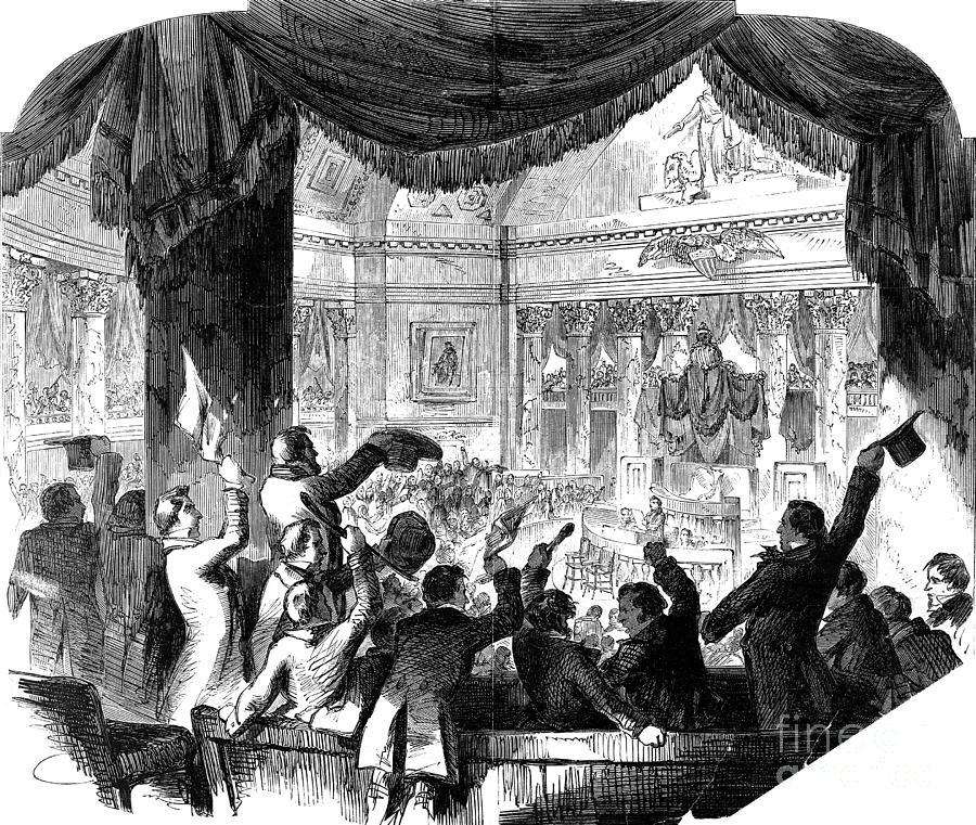 1856 Photograph - U.s. Congress: House, 1856 by Granger