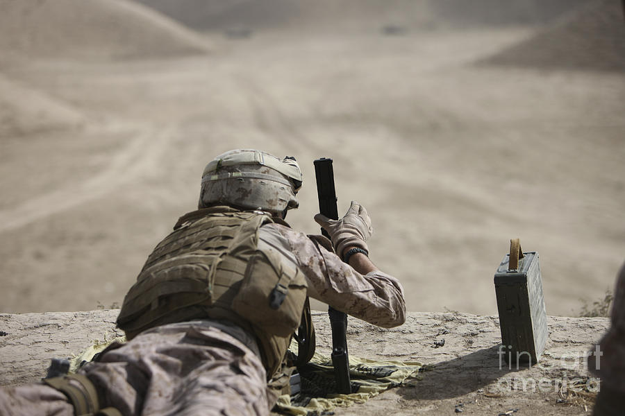 Cartridge Photograph - U.s. Marine Clears A Pk General-purpose by Terry Moore