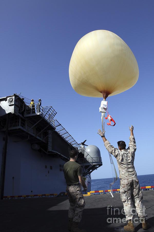 Deployment Photograph - U.s. Marines Launch A Combat Skysat by Stocktrek Images