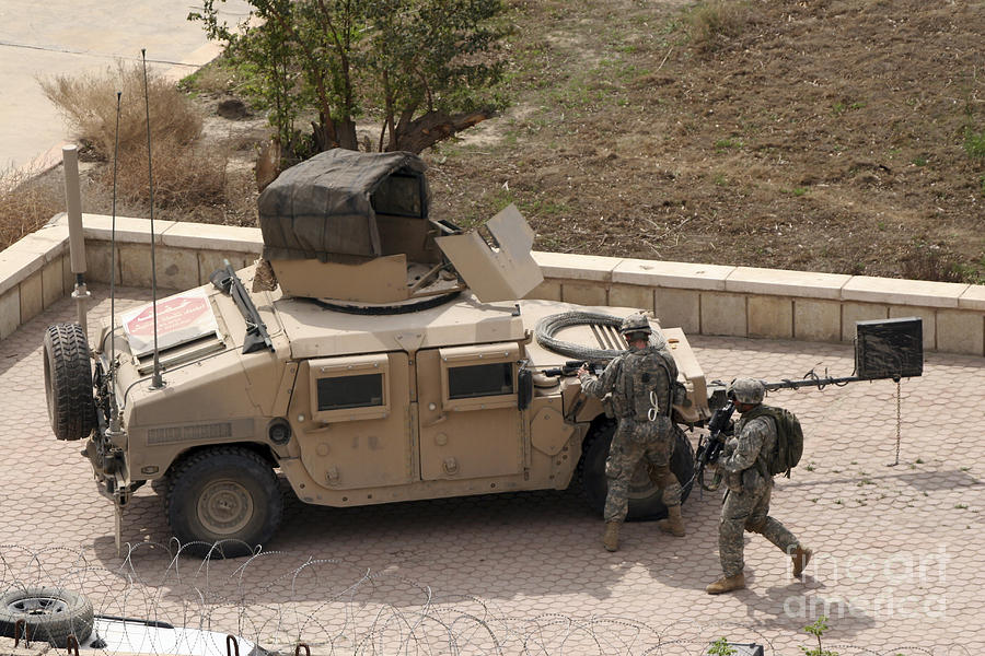 Baghdad Photograph - U.s. Military Soldiers Take A Well by Terry Moore