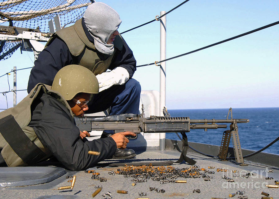 U.s. Navy Gunners Mate Observes Photograph by Stocktrek Images