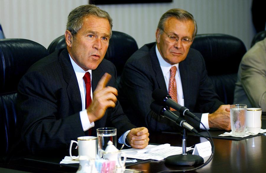 History Photograph - U.s. President George W. Bush Answers by Everett