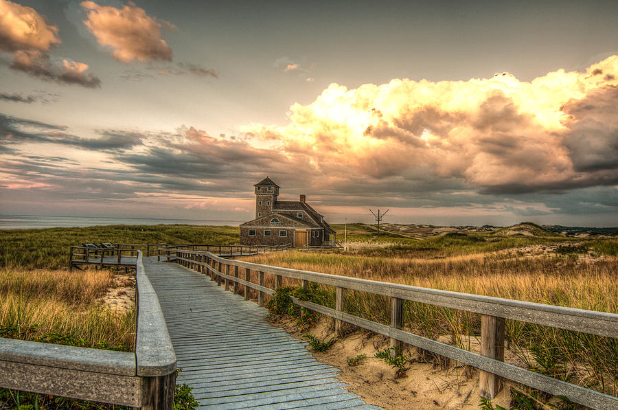 Race Point Photograph - U.s. Rescue Station At Race Point Cap Cod by Linda Pulvermacher