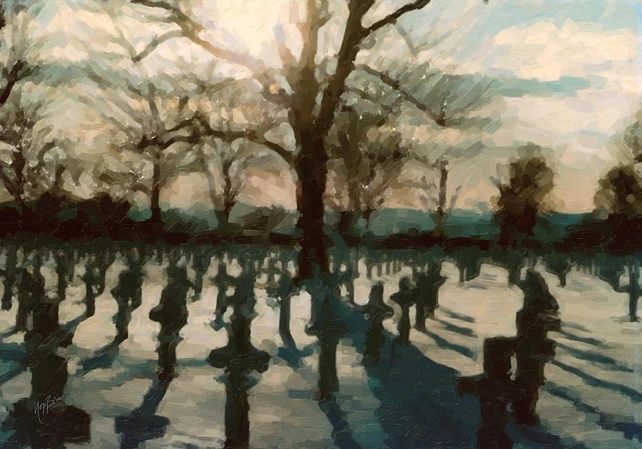 Resultado de imagem para cemetery painting