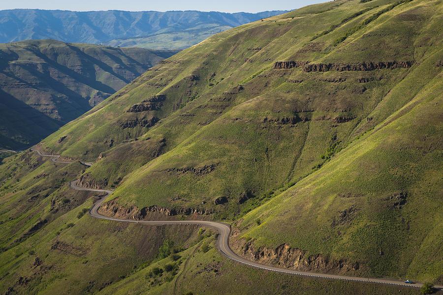 Horizontal Photograph - Usa, Washington, Asotin County, Mountain Road by Gary Weathers