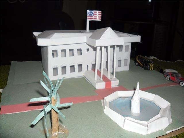 Sculpture Sculpture - Usa White House Papercraft Model by Yushan Iceboy