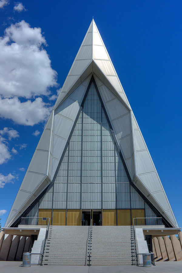 United States Air Force Academy Photograph - Usaf Academy Chapel - 4 by David Bearden