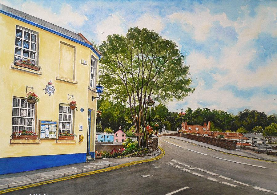 Usk Painting - Usk Police Station  by Andrew Read