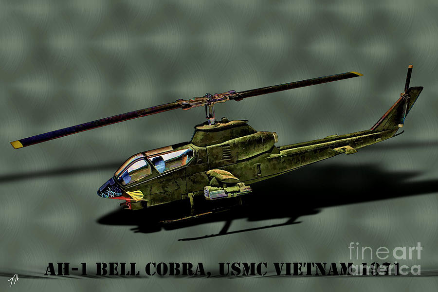 Bell Ah-1 Cobra Digital Art - Usmc Ah-1 Cobra by Tommy Anderson
