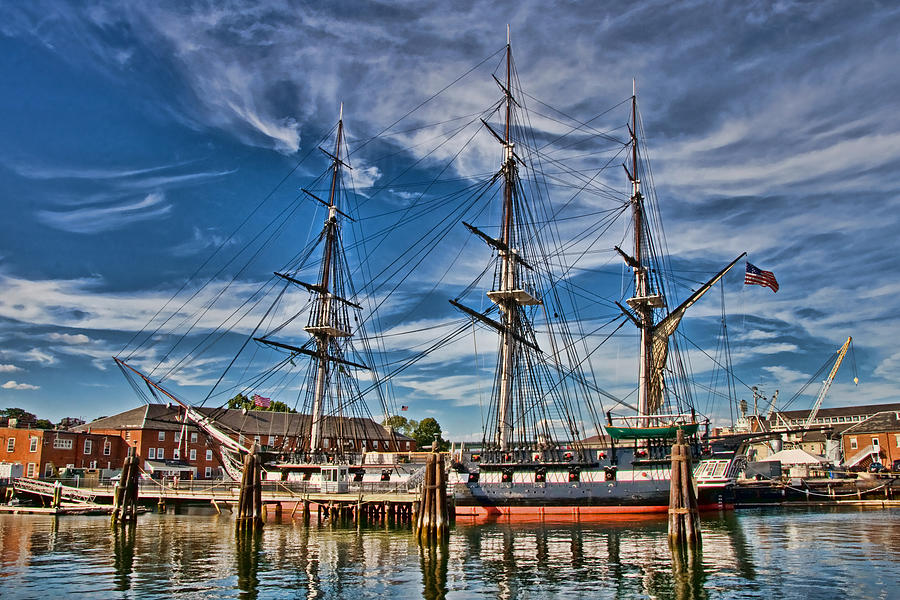 Ship Photograph - Uss Constitution-boston by Joann Vitali