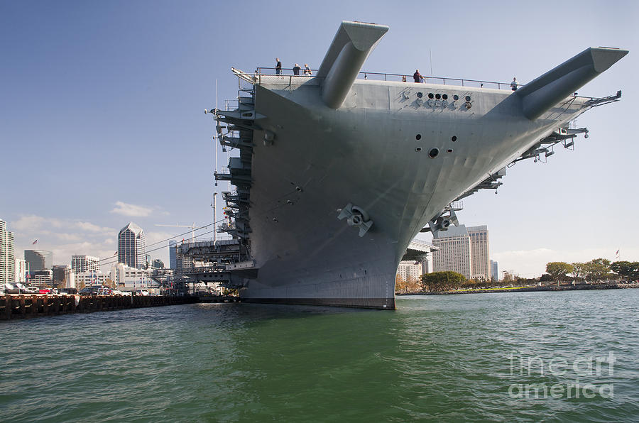 Uss Midway Museum Ship In San Diego Photograph By Michael Wood