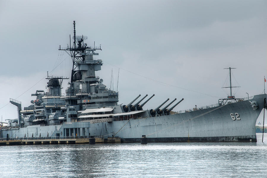 Uss New Jersey Photograph - Uss New Jersey by Jennifer Ancker