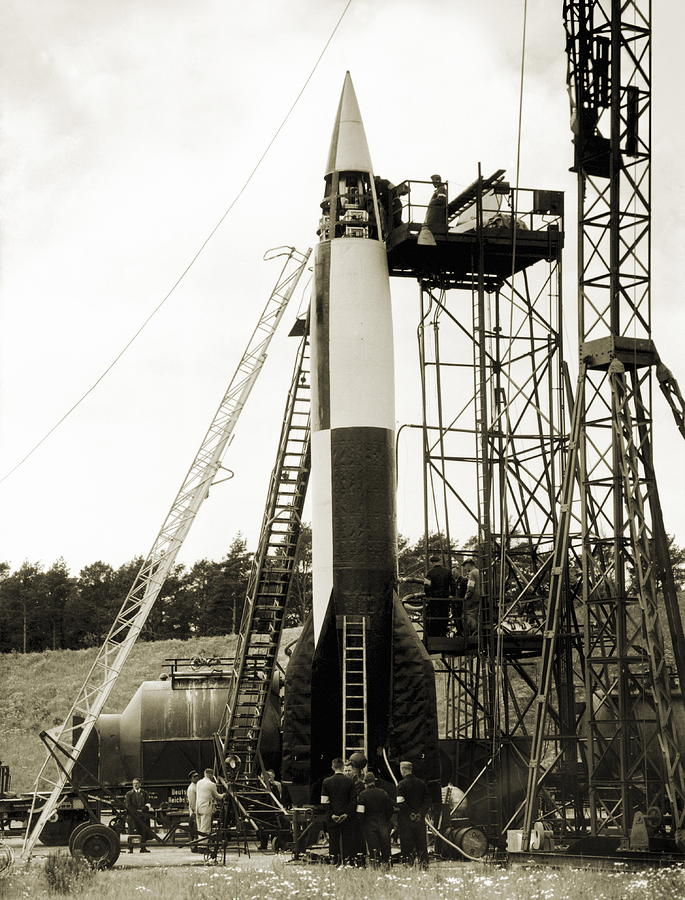V-2 Photograph - V-2 Prototype Rocket Prior To Launch by Detlev Van Ravenswaay