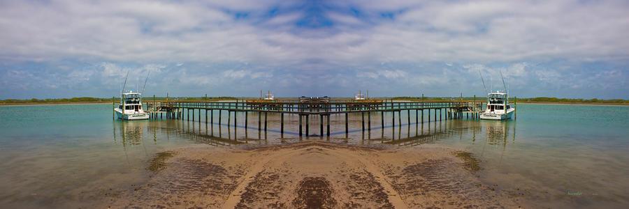Topsail Digital Art - Vacation Reflection by Betsy Knapp
