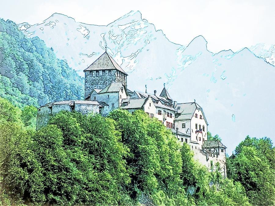 Europe Photograph - Vaduz Castle Vaduz Lichtenstein by Joseph Hendrix
