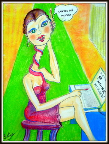 Vagina Pastel - Vagina Headlines by Satya Winkelman
