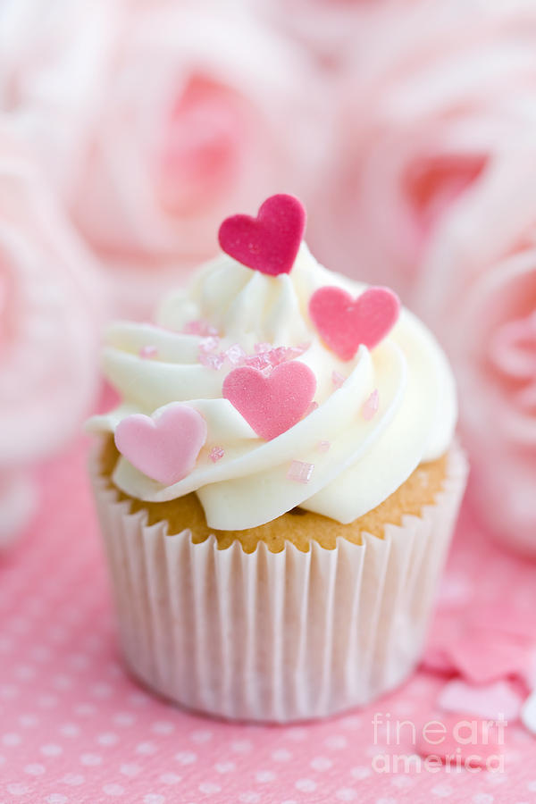Cupcake Photograph - Valentine Cupcake by Ruth Black