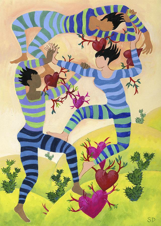 Valentine Dancers by Shoshanah Dubiner