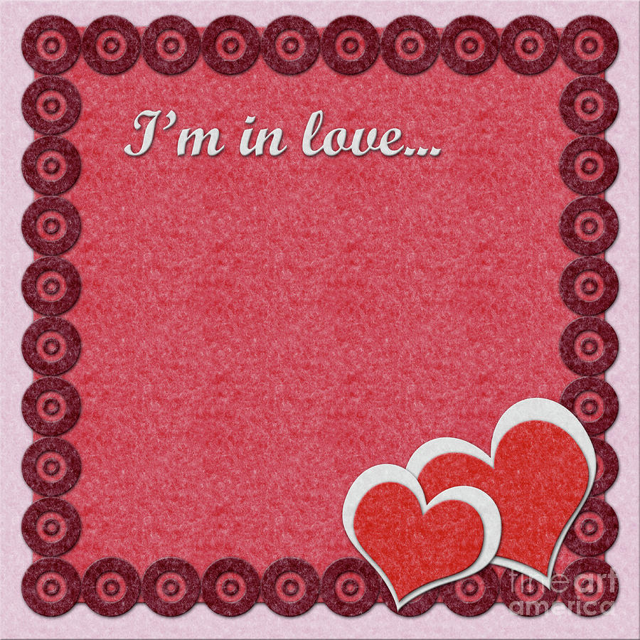 Valentines Day Felt Greeting Card Digital Art By Anna Kosenko