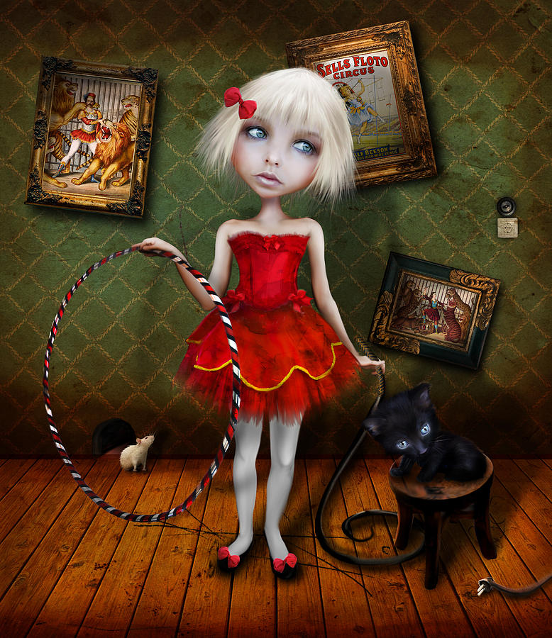 Little Girl Digital Art - Valetto by Jessica Von Braun