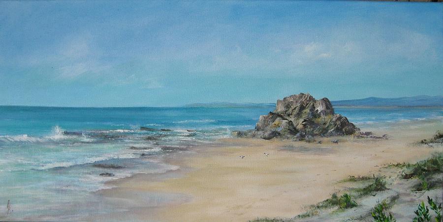 Sea Painting - Valla Beach by Rita Palm