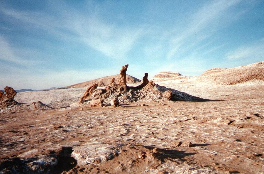 Alle De La Luna Photograph - Valle De La Luna - Atacama Desert Northern  by Ronald Osborne