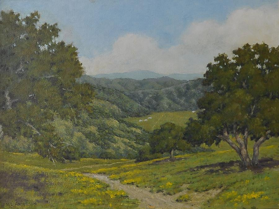 Steinbeck Country Painting - Valley1 by Marv Anderson