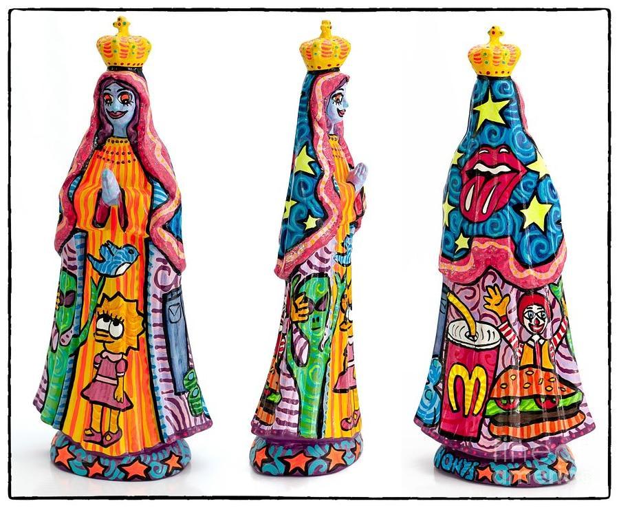 Virgen Del Valle Ceramic Art - Vallita by Honys Torres