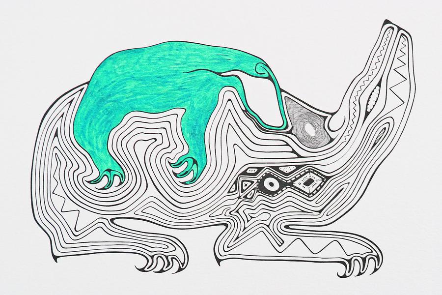 Bears Drawing - Vampire by Antonio Casu