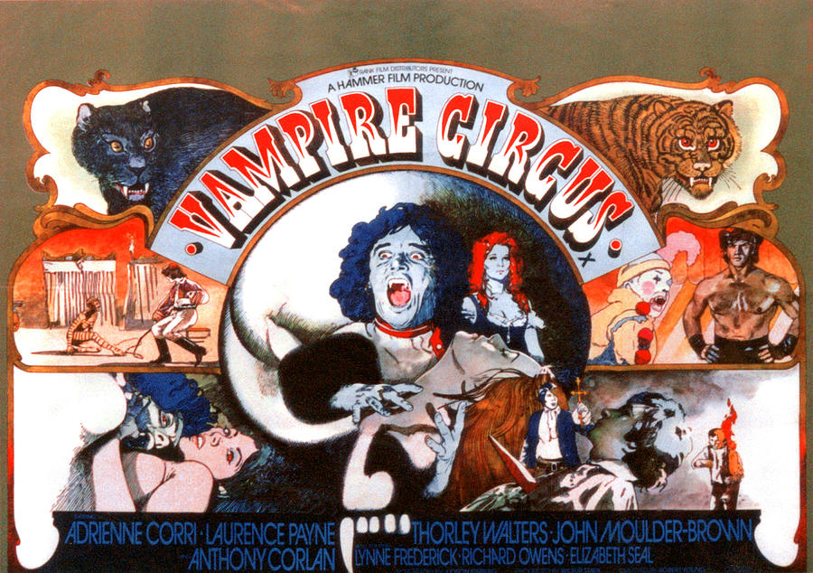 1970s Movies Photograph - Vampire Circus, Anthony Corlan Center by Everett