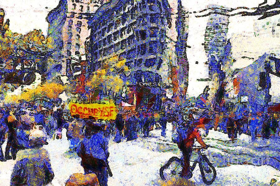 Vangogh Photograph - Van Gogh Occupies San Francisco . 7d9733 by Wingsdomain Art and Photography