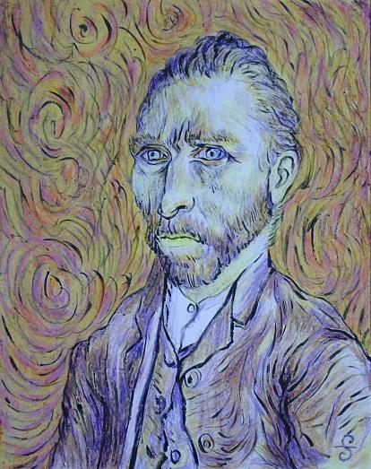Van Gogh Portrait Painting by Silvia Gold
