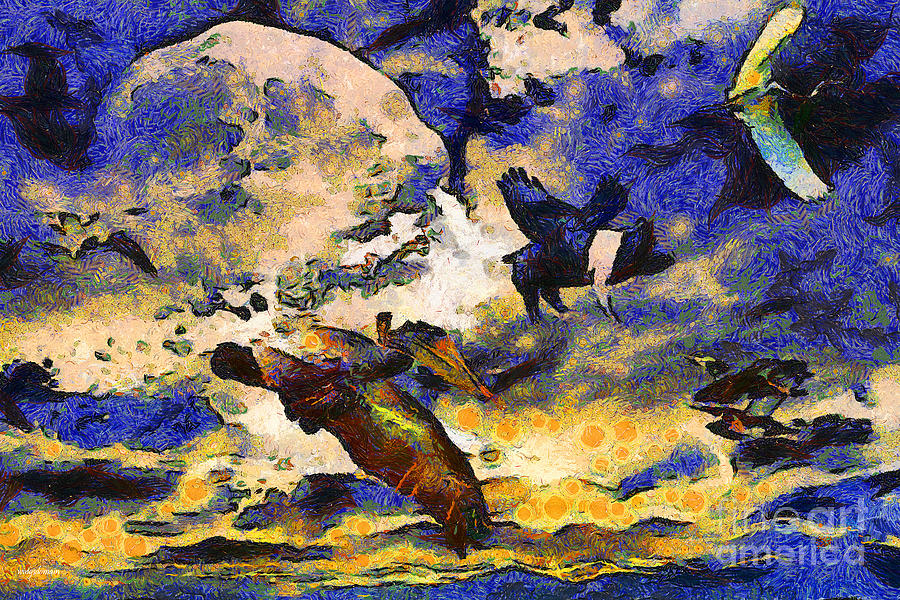Animal Photograph - Van Gogh.s Flying Pig by Wingsdomain Art and Photography
