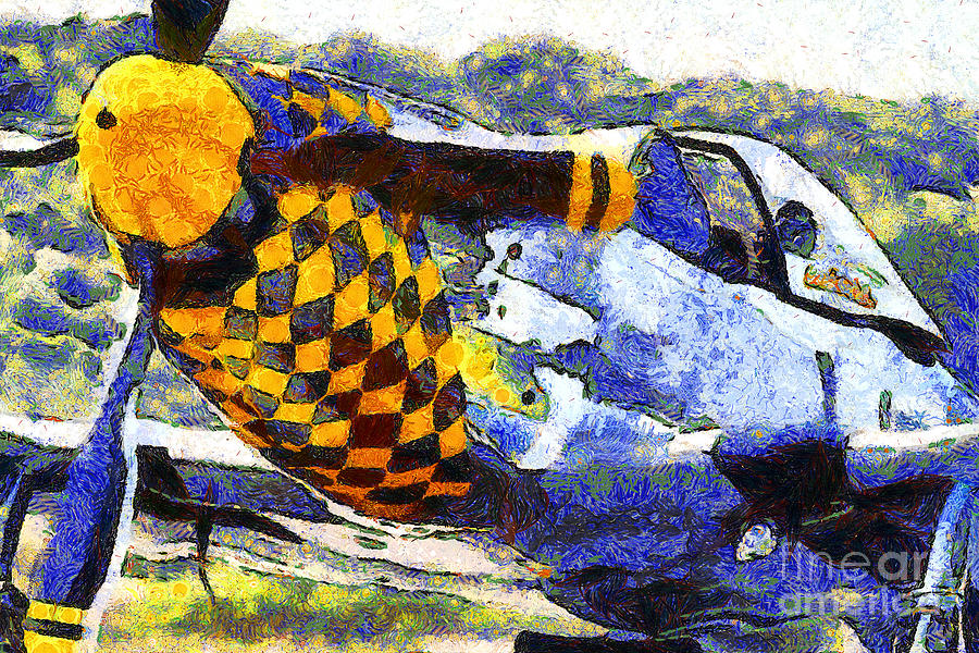 Vangogh Photograph - Van Gogh.s P-51 Mustang Fighter Plane . 7d15598 by Wingsdomain Art and Photography