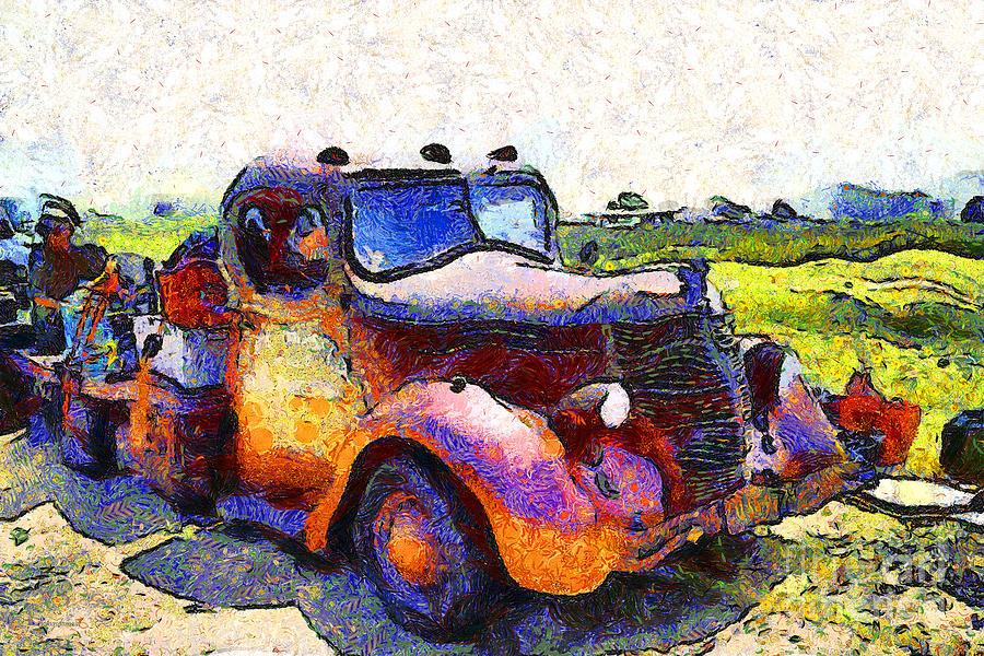 Transportation Photograph - Van Gogh.s Rusty Old Jalopy . 7d15500 by Wingsdomain Art and Photography