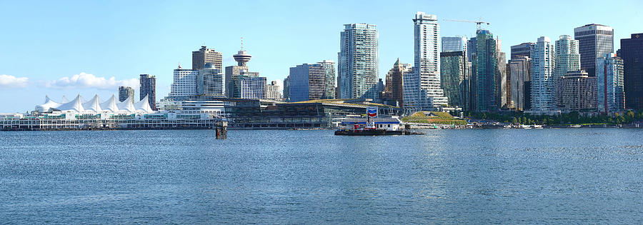 Vancouver Bc Photograph - Vancouver Bc Skyline Canada Place Panorama Canada. by Gino Rigucci