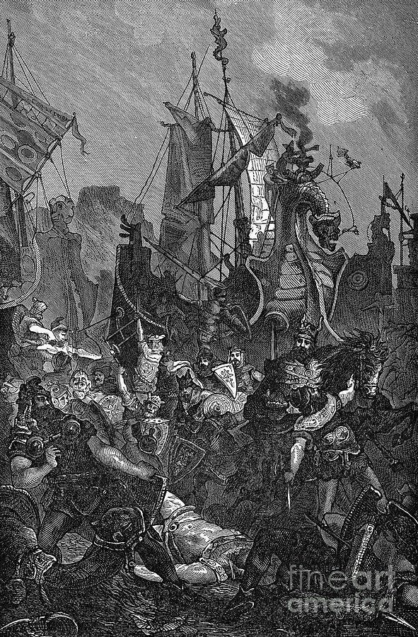 5th Century Photograph - Vandal Invasion Of Africa by Granger