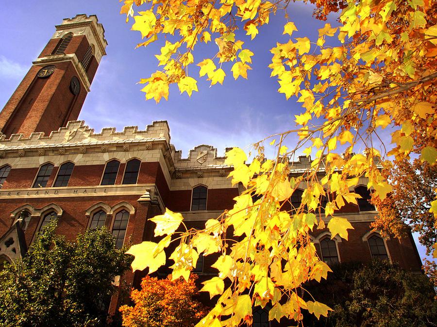 Vanderbilt Photograph - Vanderbilt Kirkland Hall In The Fall by Vanderbilt University