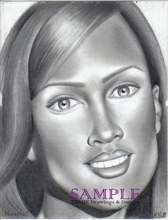 Portraits Drawing - Vanessa by Rick Hill