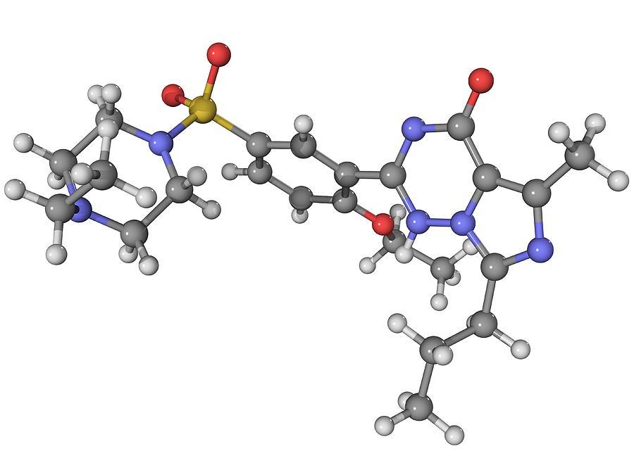 Artwork Photograph - Vardenafil Erectile Dysfunction Drug by Laguna Design