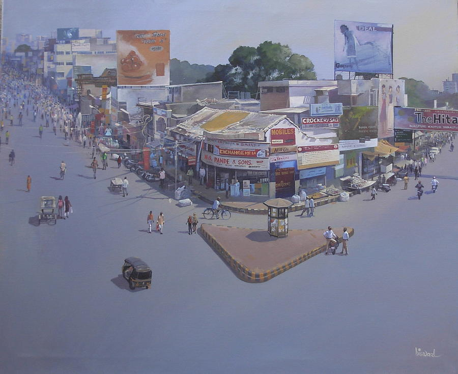 City Scape Painting - Variety Square by Bijay Biswaal