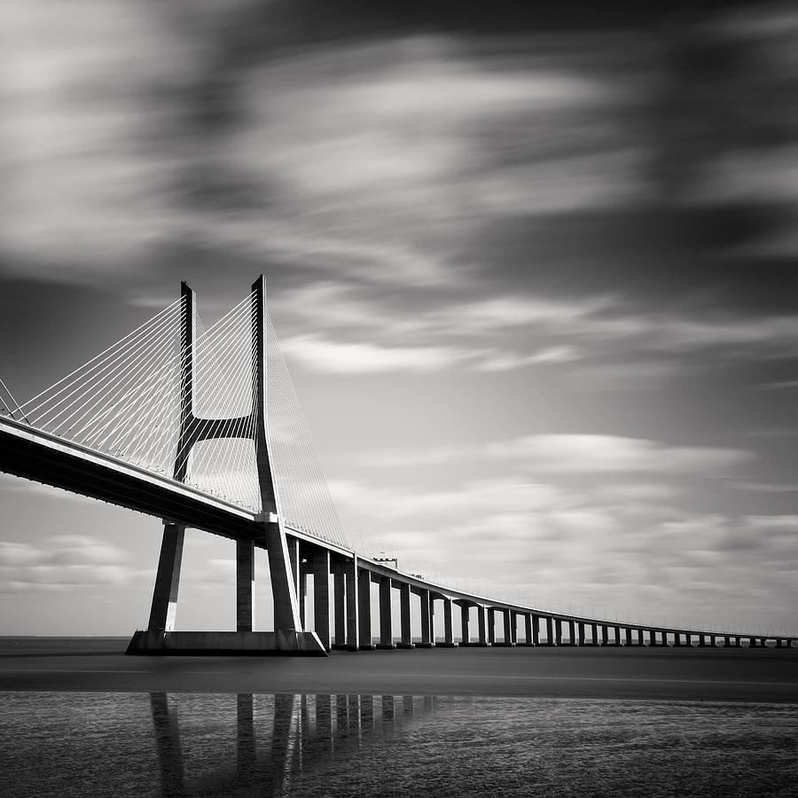 Vasco Photograph - Vasco Da Gama Bridge IIi by Nina Papiorek