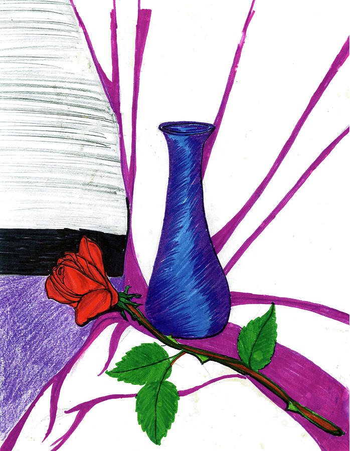 Vase Drawing by Harry Richards