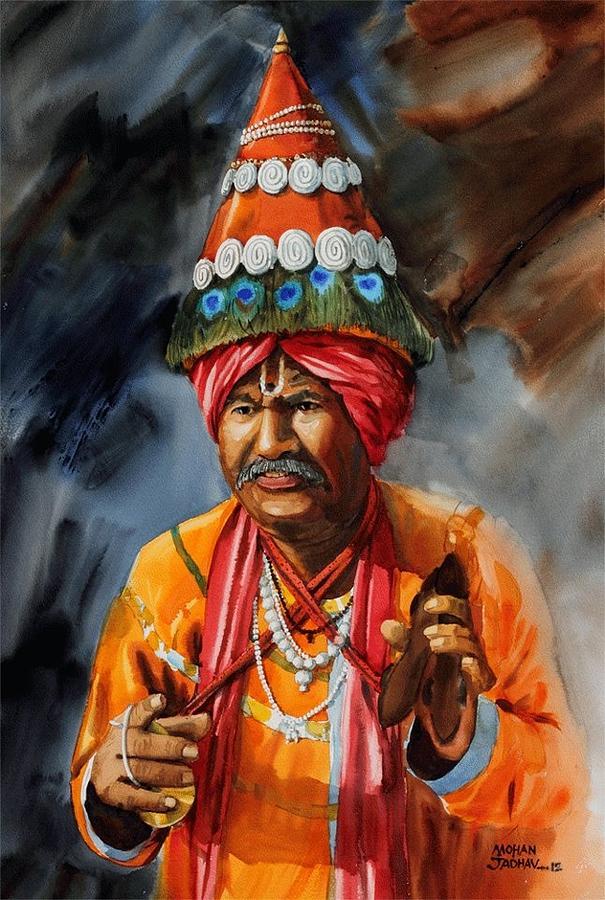 Vasudeo Painting by Mohan  Jadhav