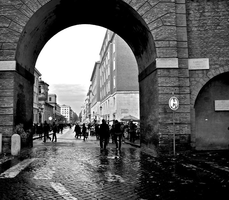 Vatican City Photograph - Vatican City Wall Rainy by Heather Marshall