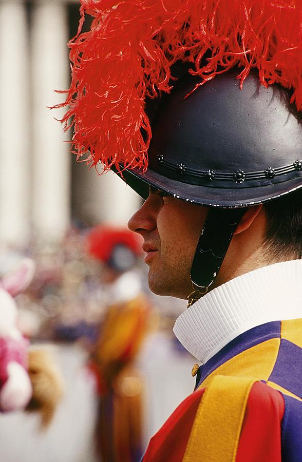 Vatican Photograph - Vatican Swiss Guard by Carlos Diaz